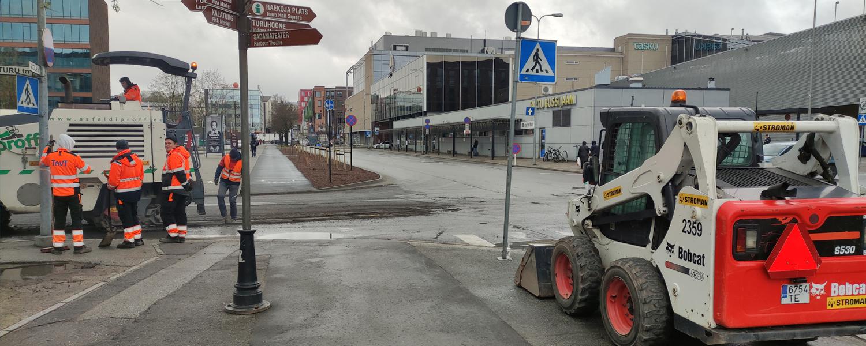 Tartu Bus Station road repair