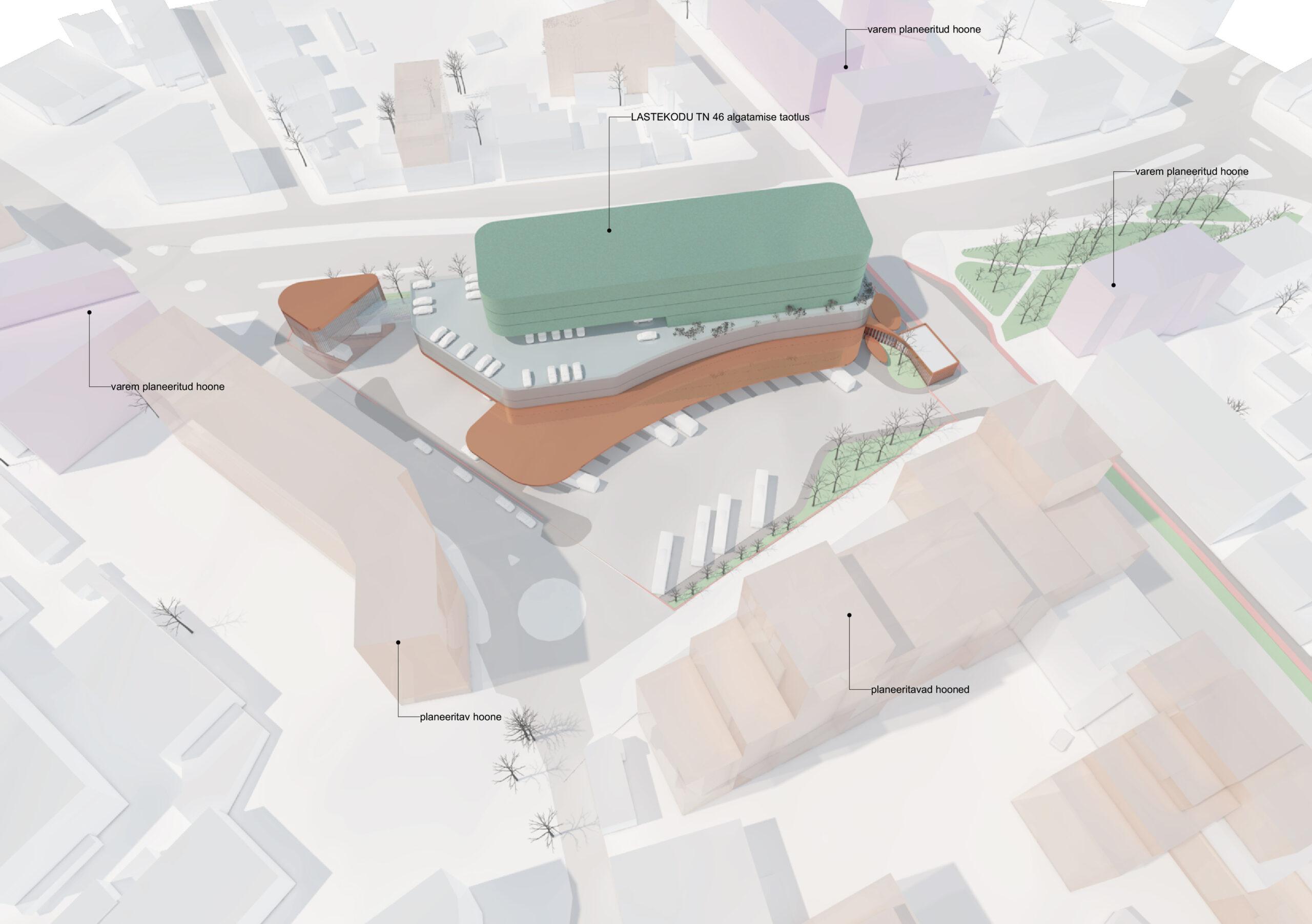 Tallinna uue bussijaama eskiislahendus